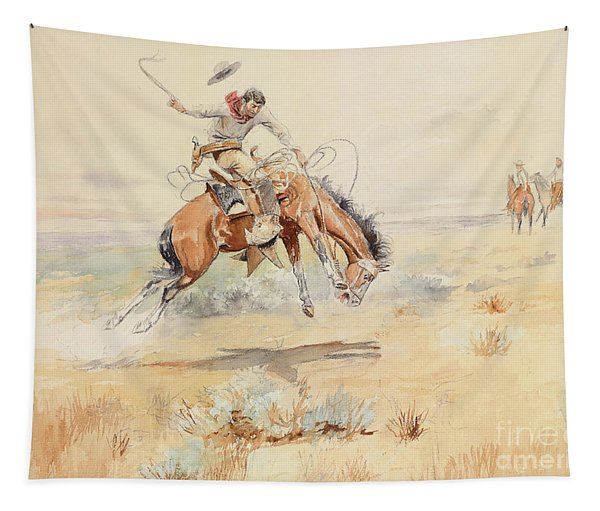 The Bronco Buster Tapestry