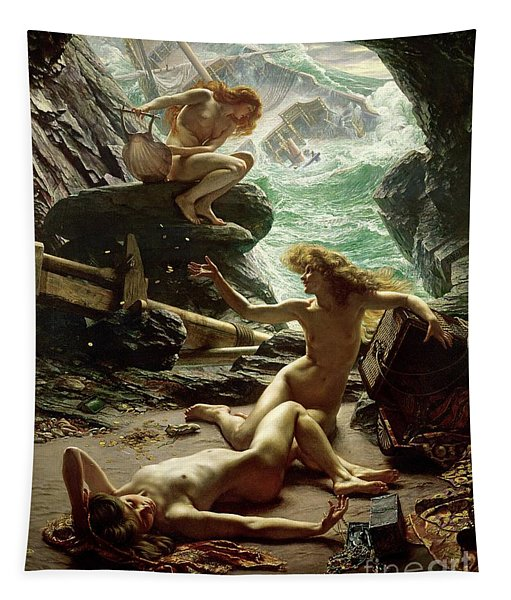 The Cave Of The Storm Nymphs Tapestry