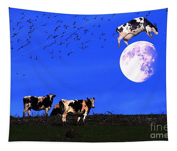 The Cow Jumped Over The Moon Tapestry