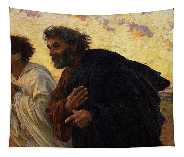The Disciples Peter And John Running To The Sepulchre On The Morning Of The Resurrection Tapestry
