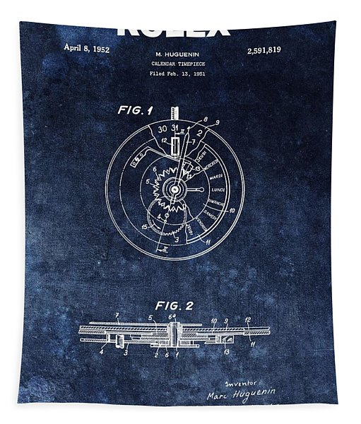 The First Rolex Patent Tapestry
