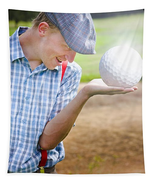 The Golf Of Big Balls Tapestry