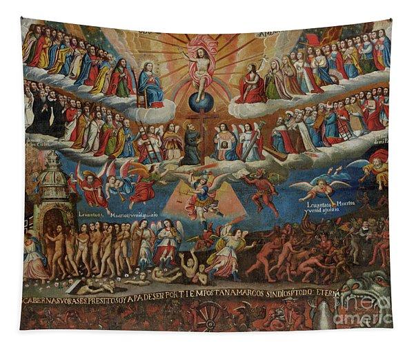The Last Judgement, Cuzco School, Late 17th Century Tapestry