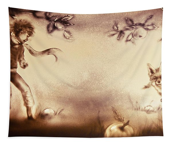 The Little Prince And The Fox Tapestry