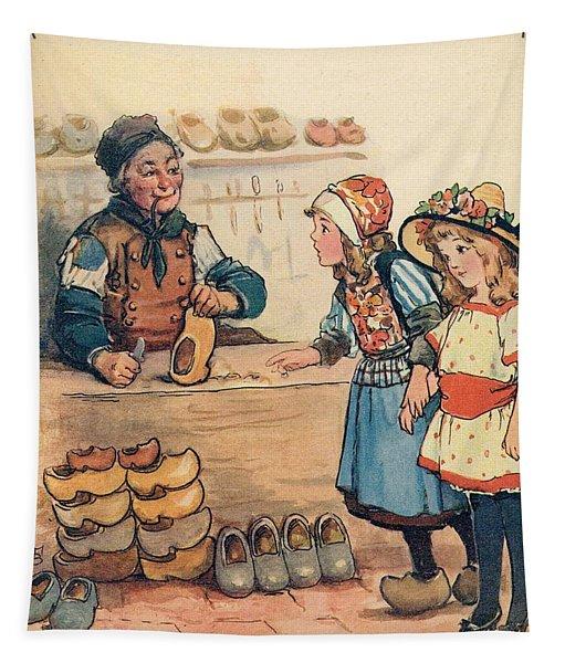The Little Wooden Shoe Maker Tapestry