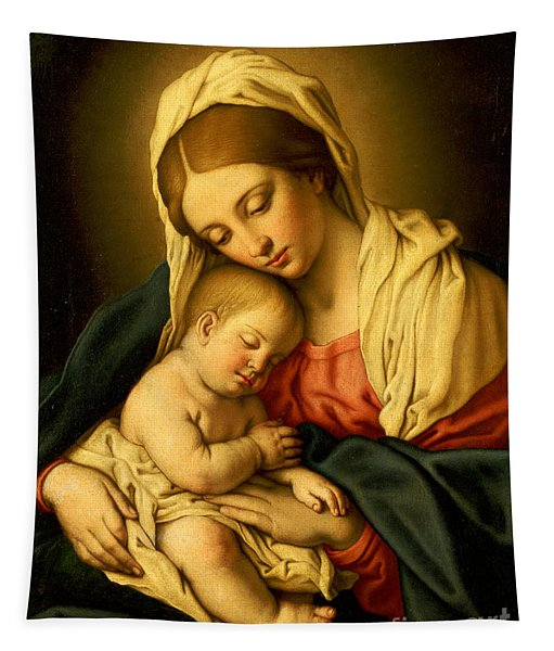The Madonna And Child Tapestry
