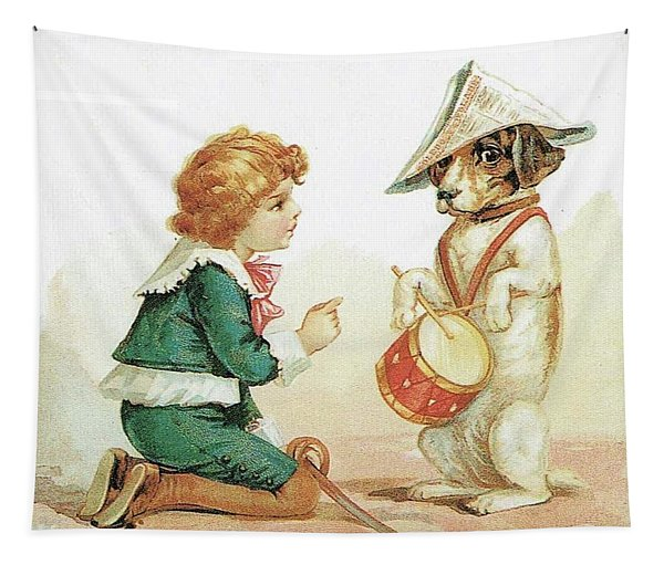 The Musical Pooch Tapestry