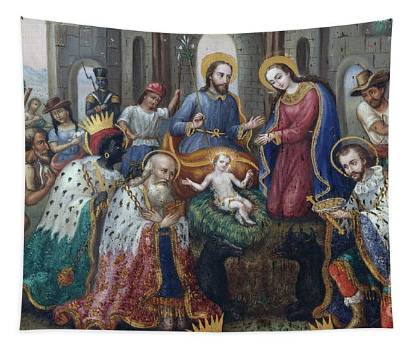 The Nativity With The Adoration Of The Magi And Shepherds, An Andean Landscape Beyond  Tapestry