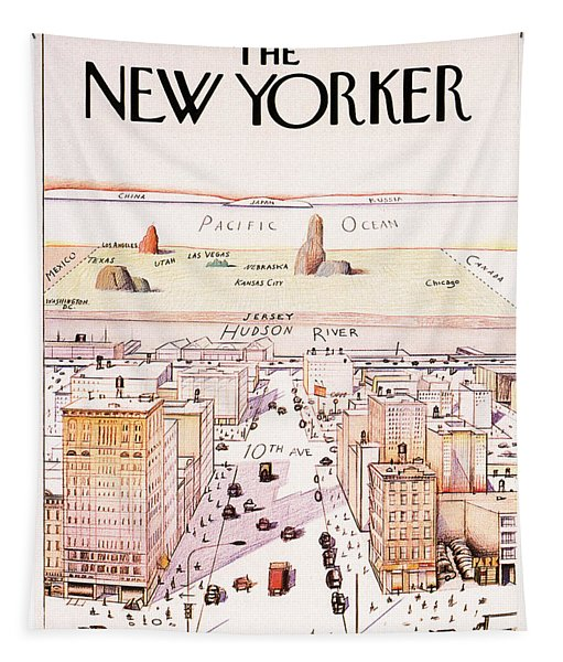 The New Yorker - Magazine Cover - Vintage Art Nouveau Poster Tapestry