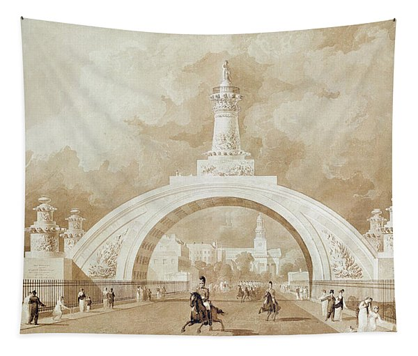 The Proposed Triumphal Arch From Portland Place To Regent's Park Tapestry