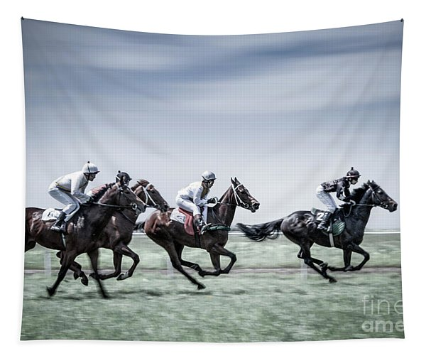 The Race Is On Tapestry