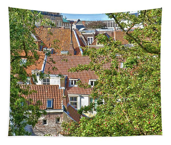 The Rooftops Of Leiden Tapestry
