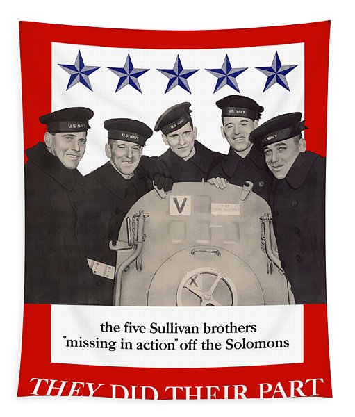 The Sullivan Brothers - They Did Their Part Tapestry