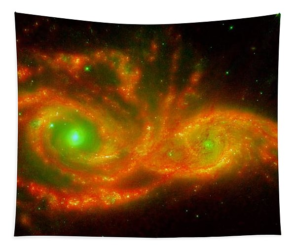 The Two Galaxies Ngc 2207 And Ic 2163 In The Canis Major Constellation Tapestry