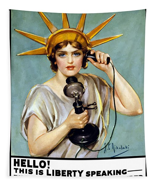 This Is Liberty Speaking - Ww1 Tapestry