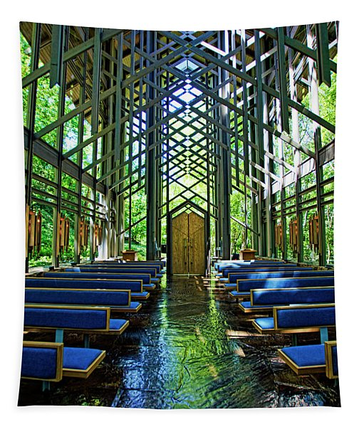 Thorncrown Chapel Serenity Tapestry