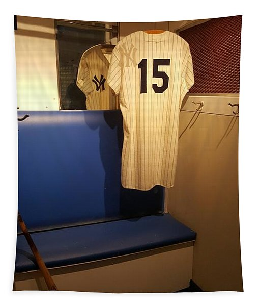 New York Yankee Captian Thurman Munson 15 Locker Tapestry