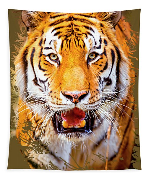 Tiger On The Hunt Tapestry