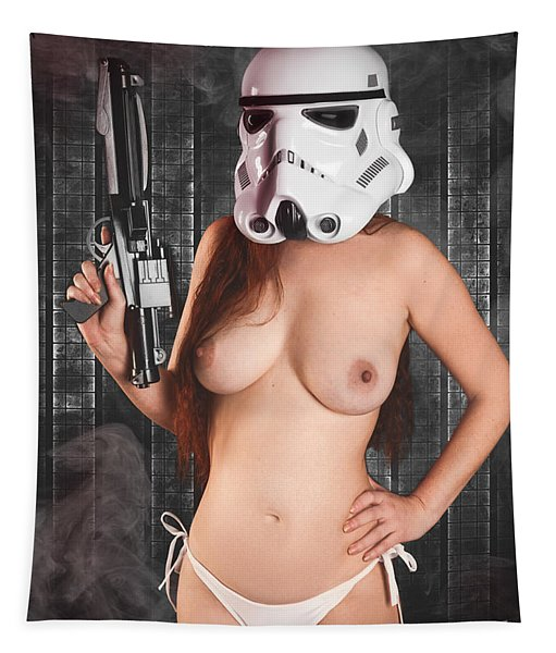 Topless Trooper Tapestry