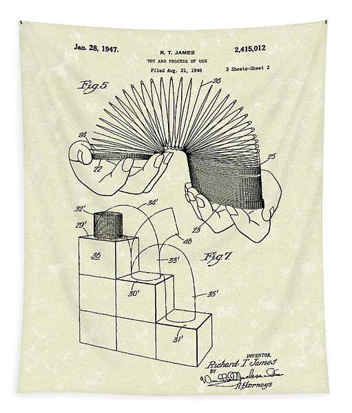Toy 1947 Patent Art Tapestry