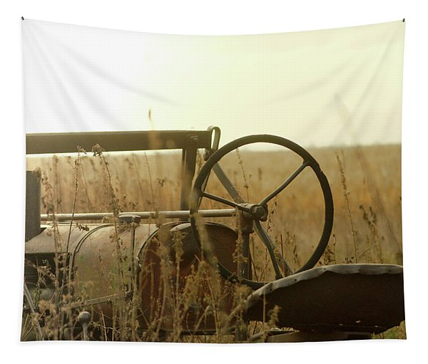 Tractor Sunrise Tapestry