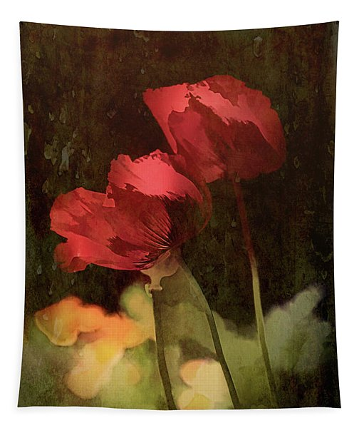 Two Poppies Tapestry
