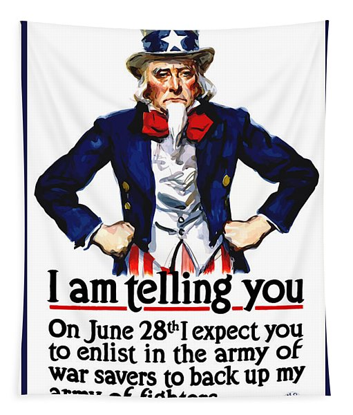 Uncle Sam -- I Am Telling You Tapestry