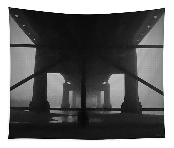 Under The Old Sakonnet River Bridge Tapestry