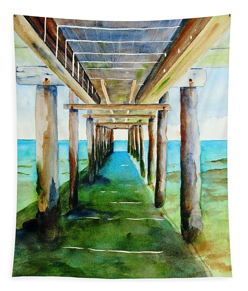 Under The Playa Paraiso Pier Tapestry
