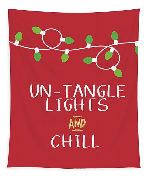 Untangle Lights And Chill- Art By Linda Woods Tapestry