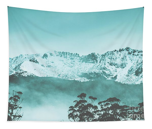 Untouched Winter Peaks Tapestry