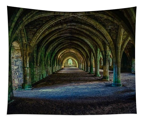 Vaulted, Fountains Abbey, Yorkshire, United Kingdom Tapestry