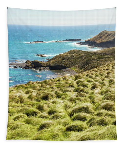 Vibrant Cape Seascape Tapestry