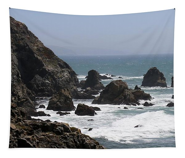 Tapestry featuring the photograph View From Bodega Head In Bodega Bay Ca - 4 by Christy Pooschke
