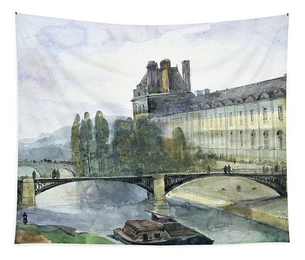 View Of The Pavillon De Flore Of The Louvre Tapestry