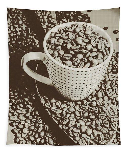 Vintage Coffee Art. Stimulant Tapestry