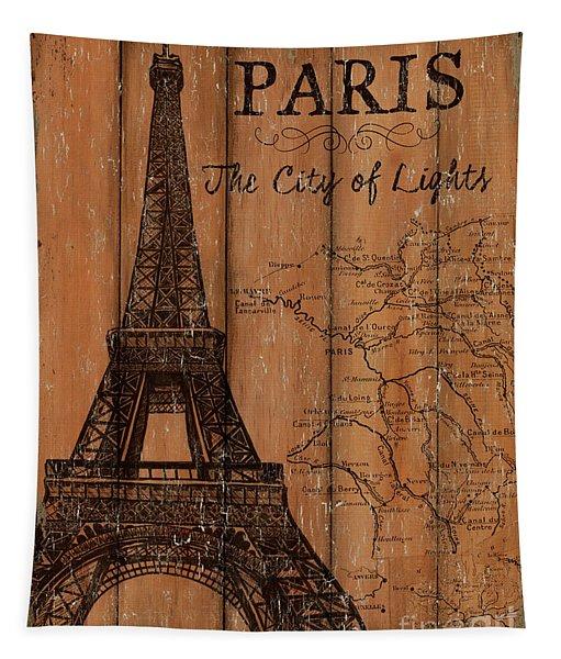 Vintage Travel Paris Tapestry