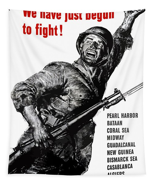 We Have Just Begun To Fight -- Ww2 Tapestry