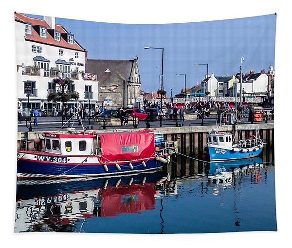 Whitby Harbor, United Kingdom Tapestry