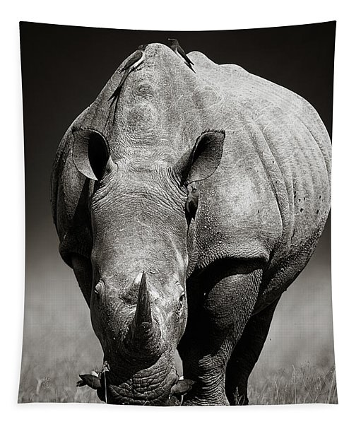 White Rhinoceros  In Due-tone Tapestry