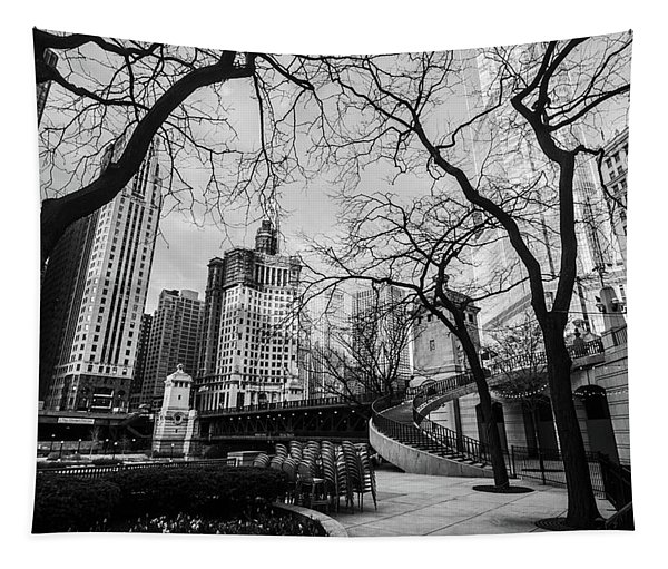 Windy Mornings In The Chi  Tapestry