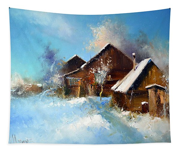Winter Cortyard Tapestry
