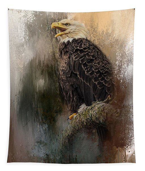 Winter Eagle 3 Tapestry