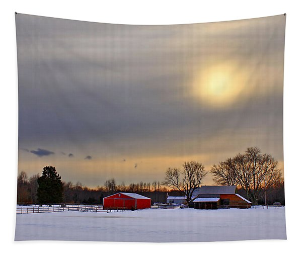 Winter Sun Tapestry