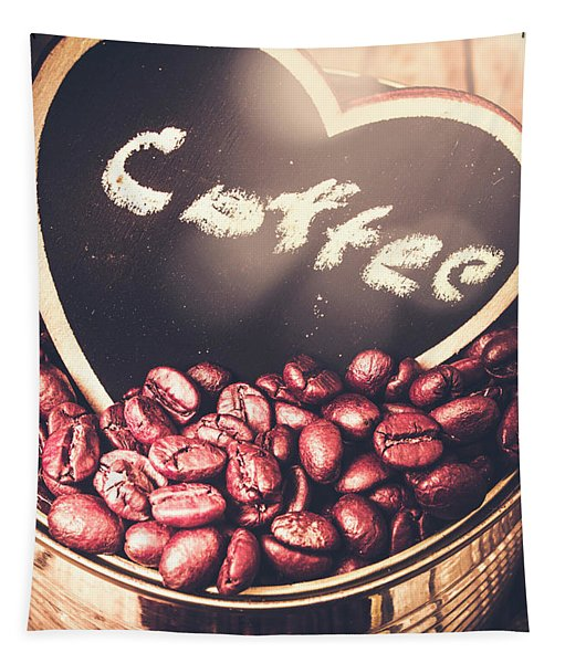 With Light And Coffee Love Tapestry