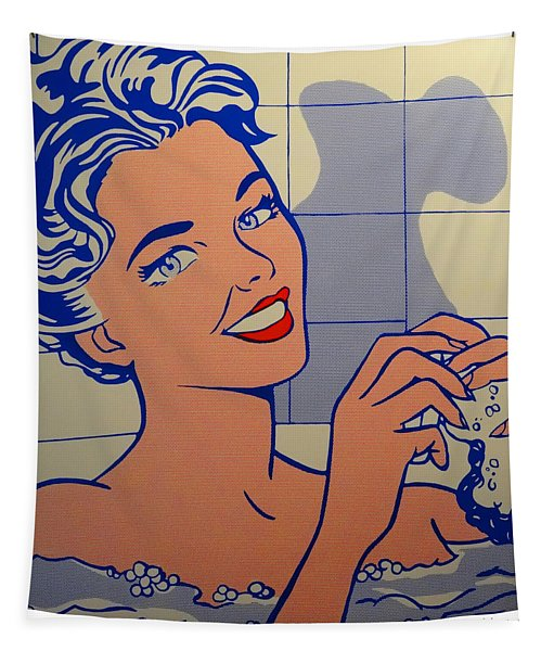 Woman In Bath Tapestry