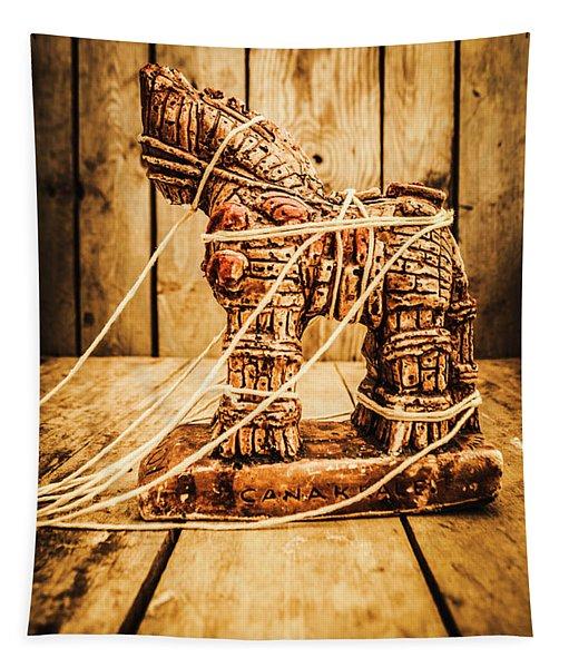 Wooden Trojan Horse Tapestry