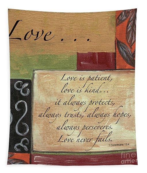 Words To Live By Love Tapestry
