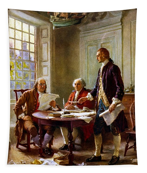 Writing The Declaration Of Independence Tapestry