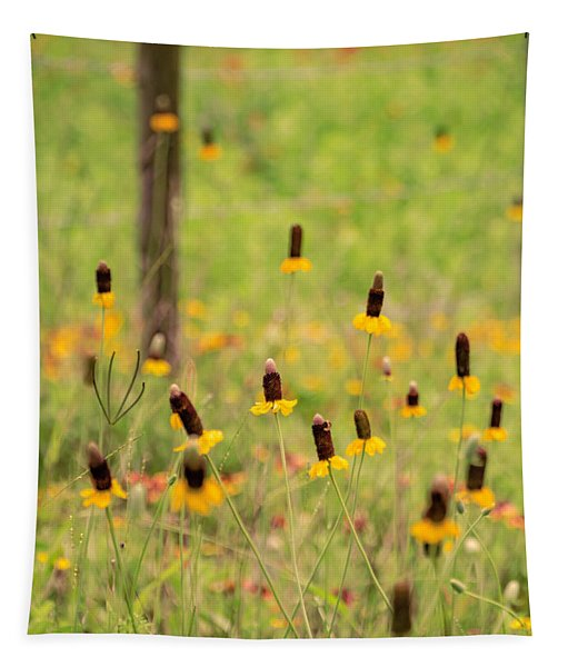 Yellow Cone Flower Tapestry